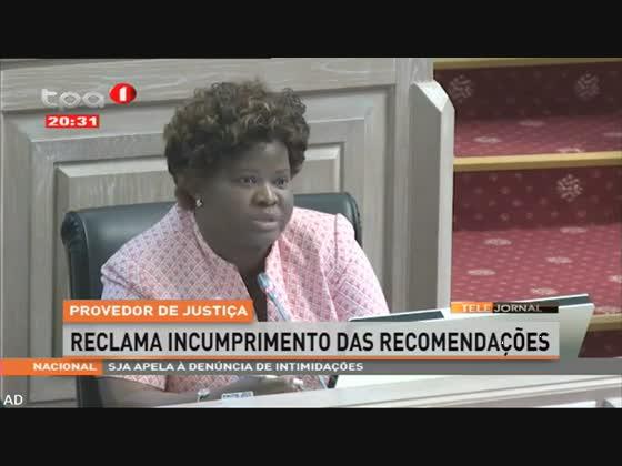 Provedor de justiça, reclama incumprimento das recomendações