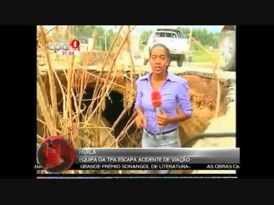 Huíla - Equipa da TPA escapa de acidente de viação