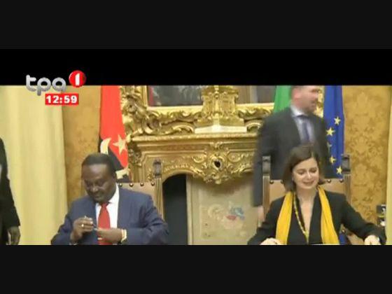 Angola e Itália apostam na formação de quadros e troca de experiências