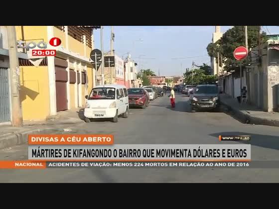 Mártires de Kifangondo o bairro que movimenta dólares e euros
