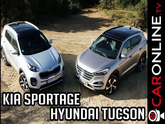 Kia SPORTAGE e Hyundai TUCSON em ENSAIO.