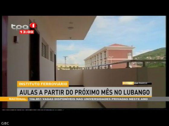 """""""Instituto Ferroviário"""" Aulas a partir do próximo mês no Lubango"""