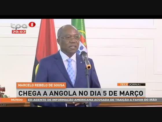 Marcelo Rebelo de Sousa chega a Angola no dia 5 de Março